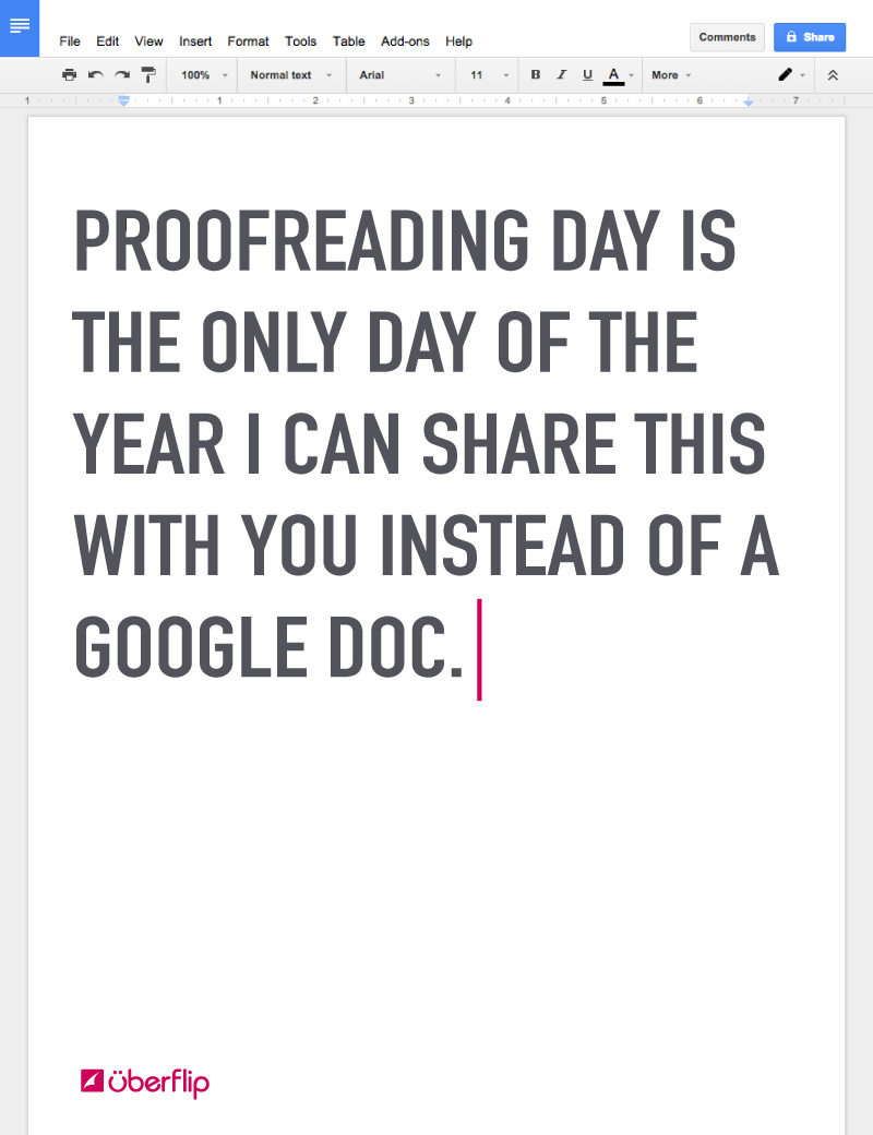 Proofreading Day Card