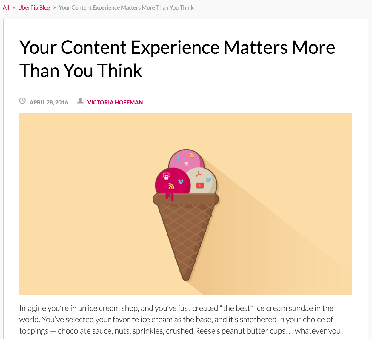 Content experience blog post