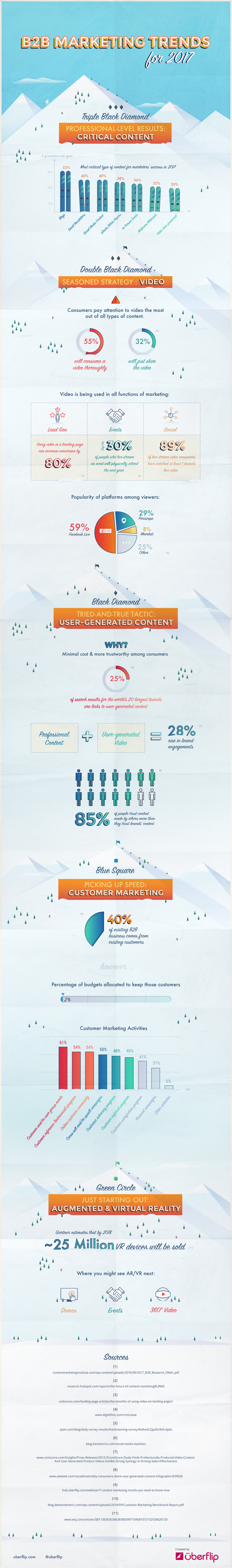 2017 marketing trends infographic