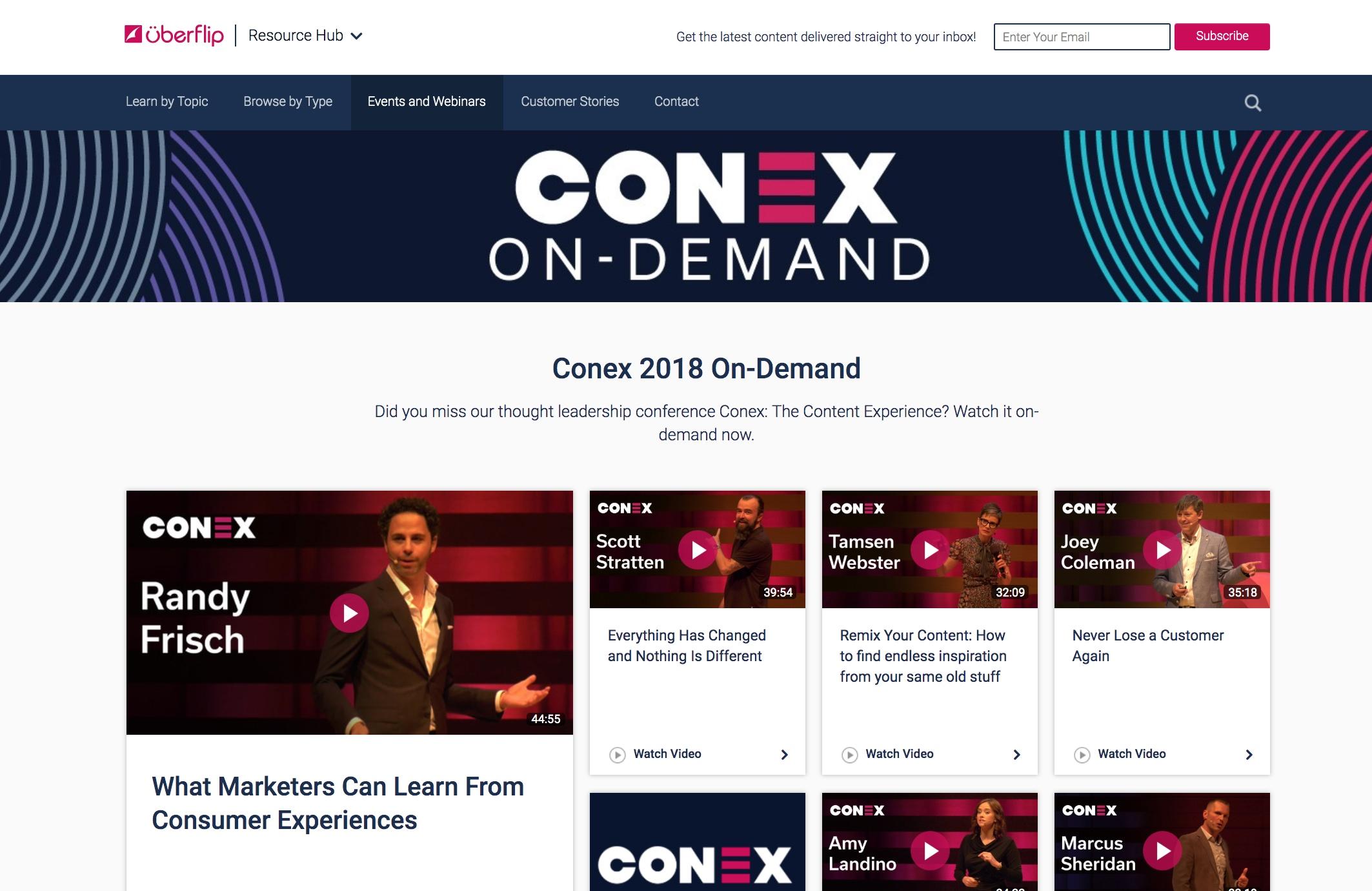 Conex on-demand stream
