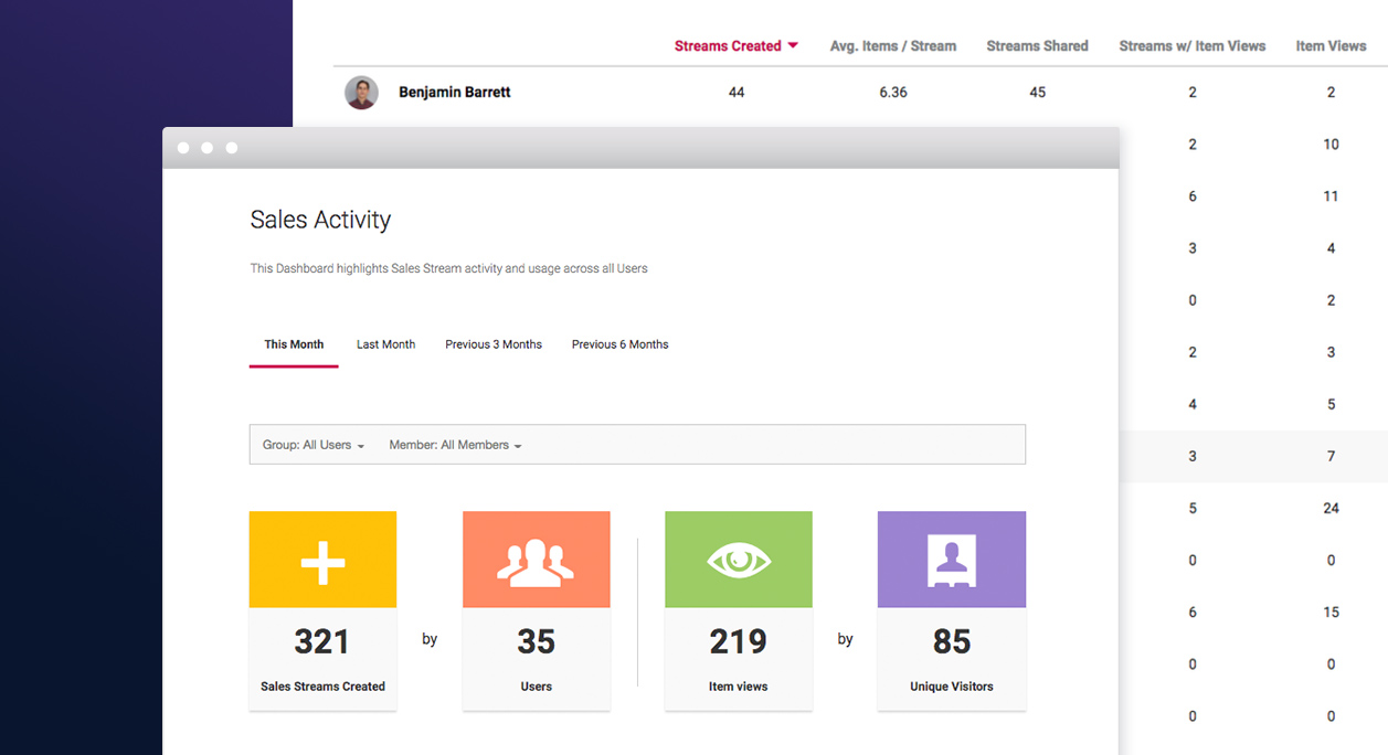 introducing the sales activity dashboard
