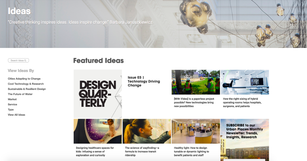 Stantec thought leadership content hub
