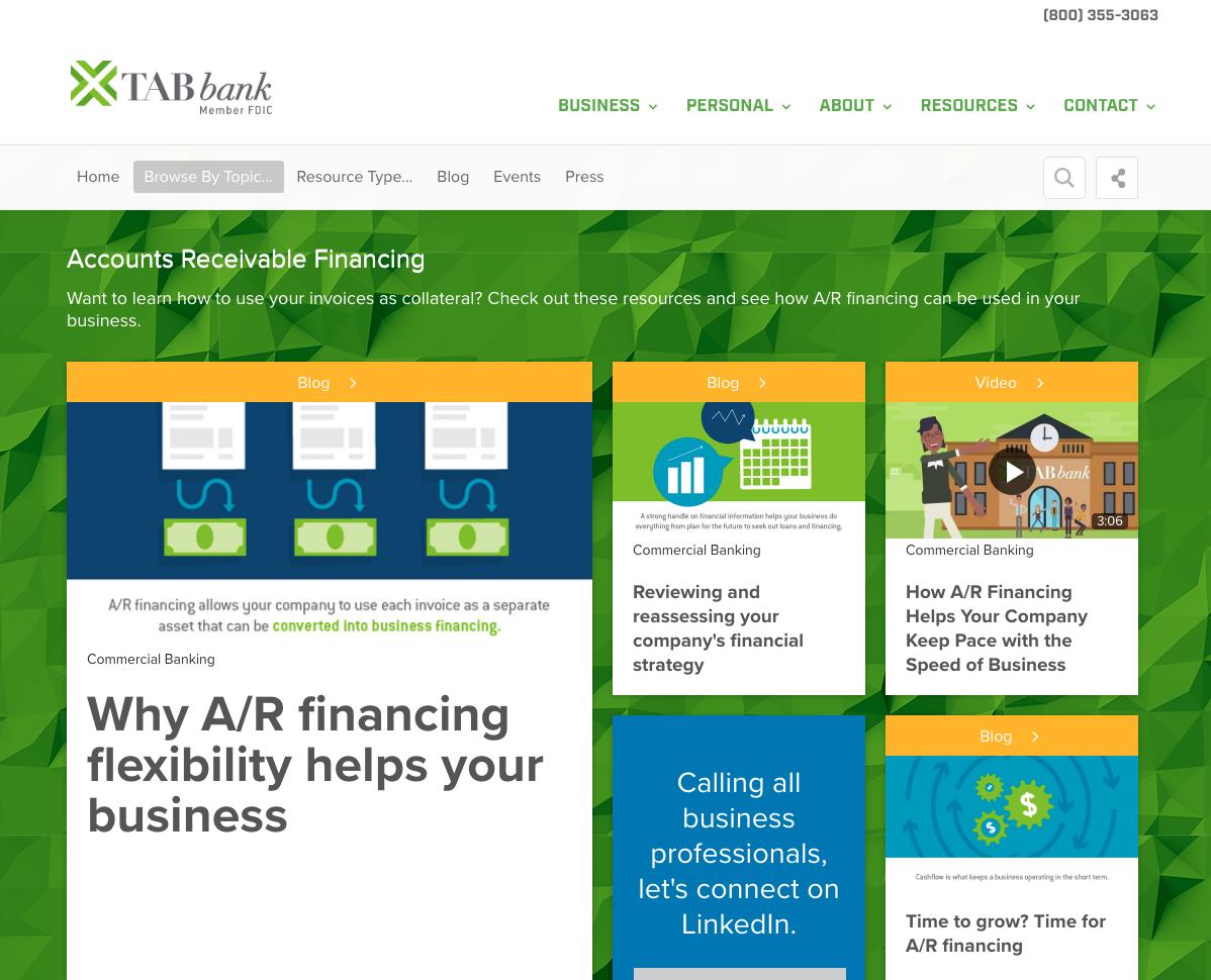A photo of TABbank's resource hub