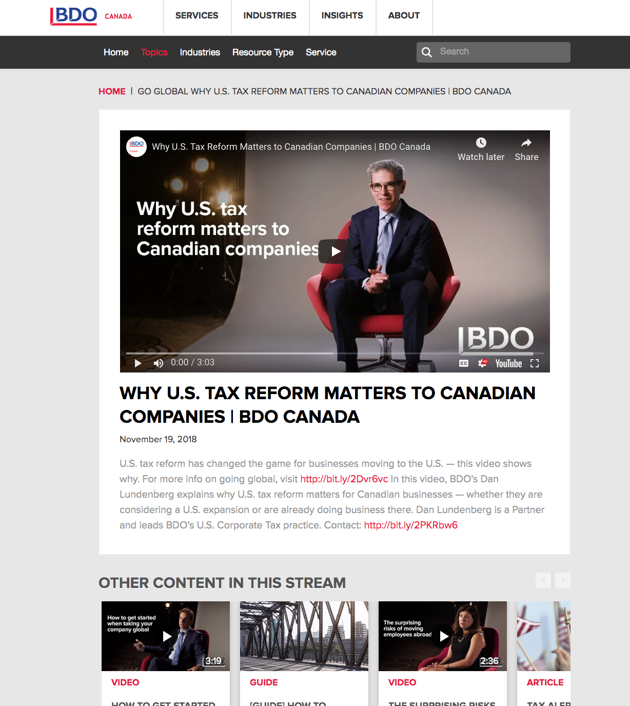 Image of item within BDO Canada's resource hub
