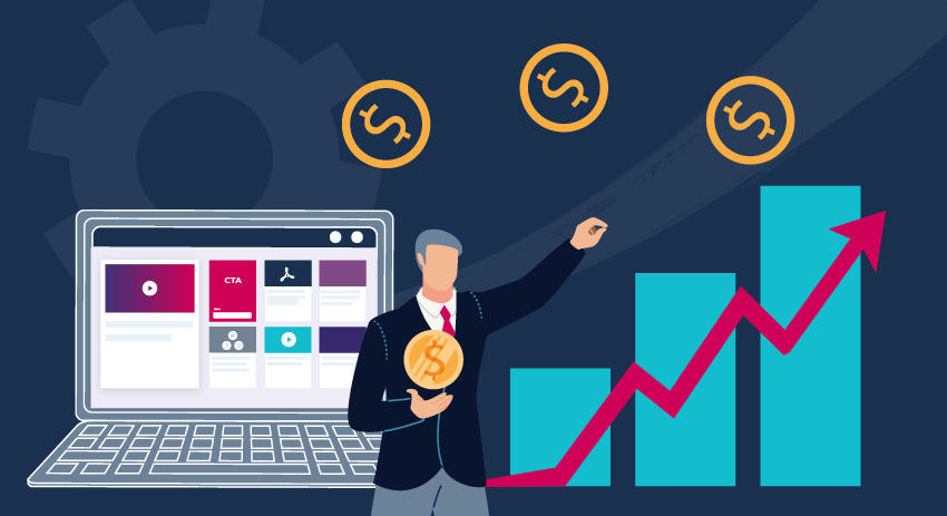 A header image that shows a financial services marketer