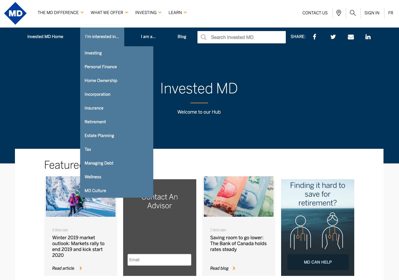MD Financial Resource Hub