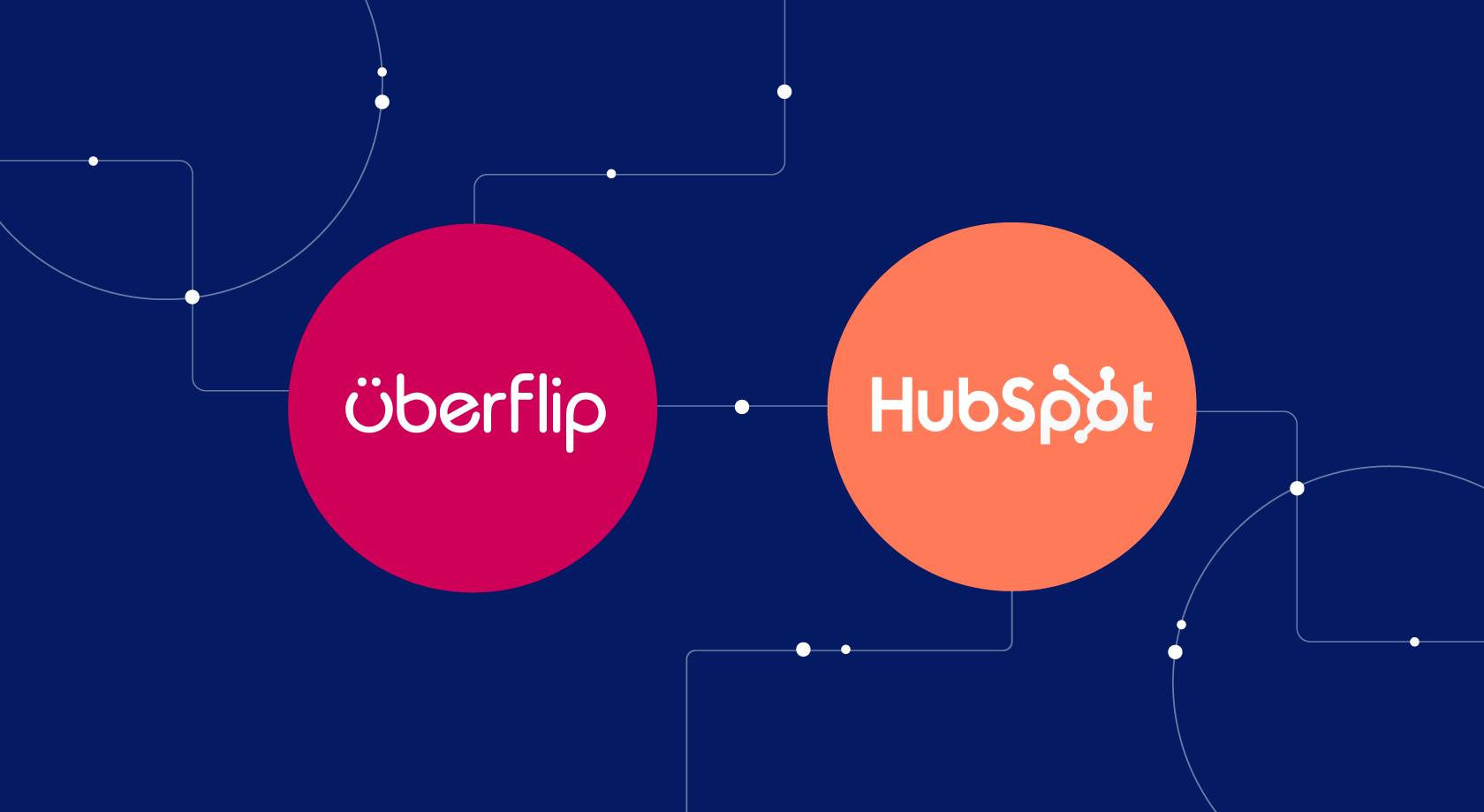 Uberflip and HubSpot logos in circles alongside eachother