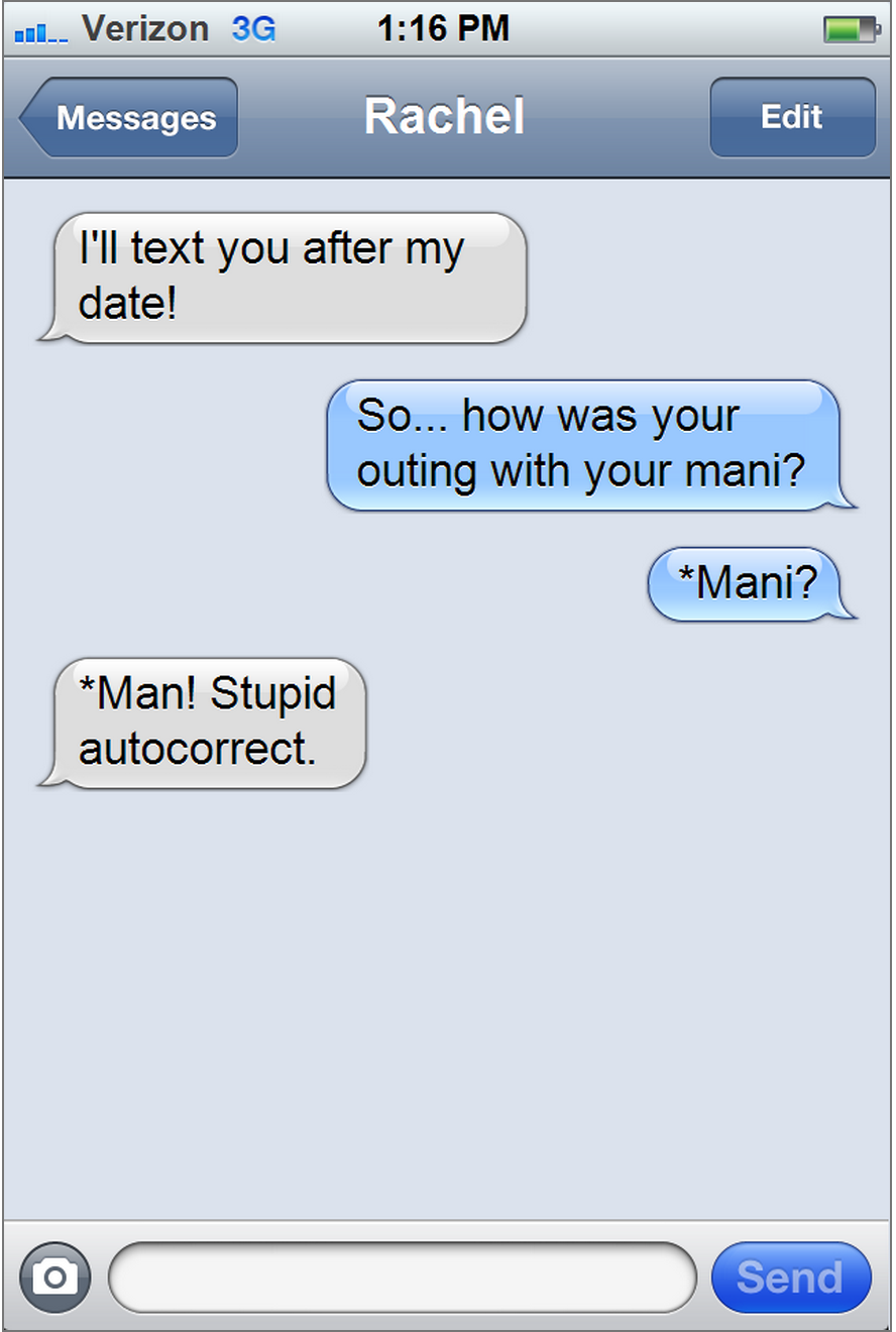 Texting Problems Manicurist