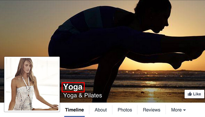 How to choose a name for your yoga studio's Facebook Page
