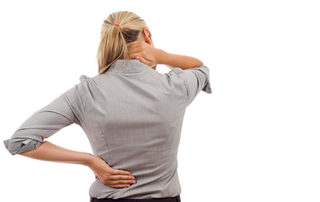 Relieve back pain with a massage