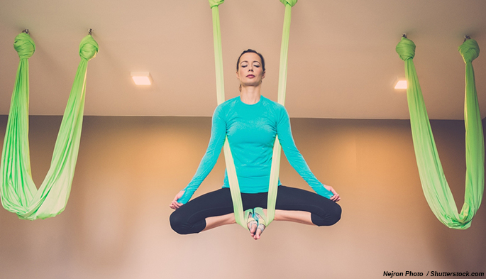Top fitness trends 2015 - aerial antigravity yoga
