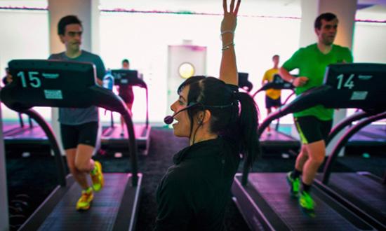 Treadmill studio class