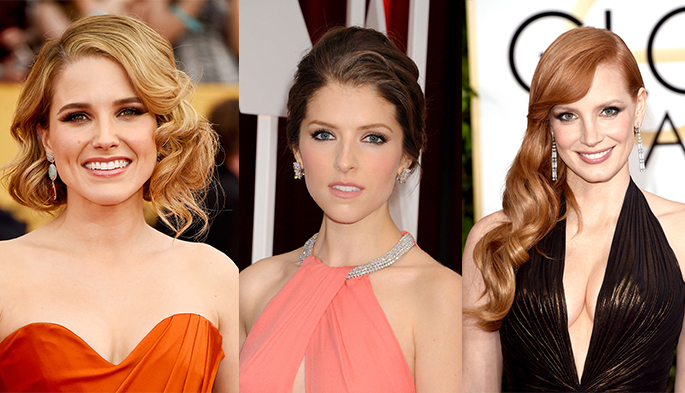 red carpet hair and makeup 2015