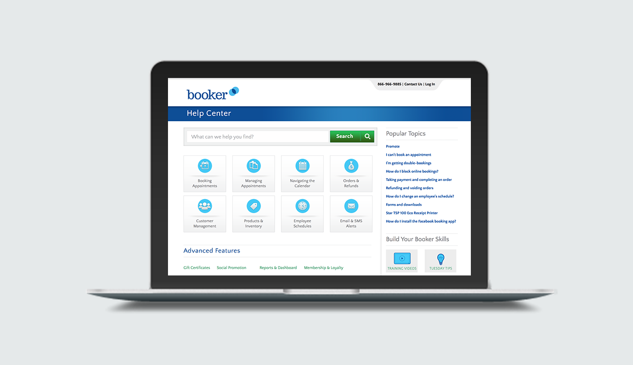 Booker Software Help Center Revamp - Improved Customer Support