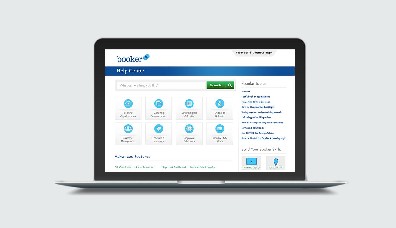 Booker Software Help Center Revamp - Improved Customer Support