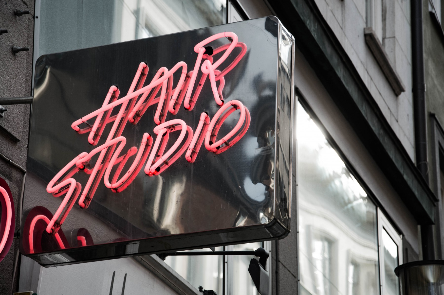 hair studio neon sign