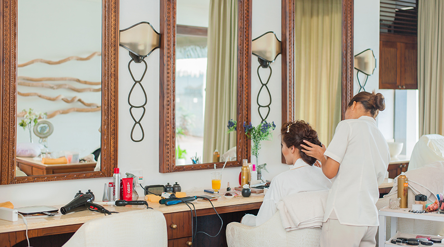 two women in salon