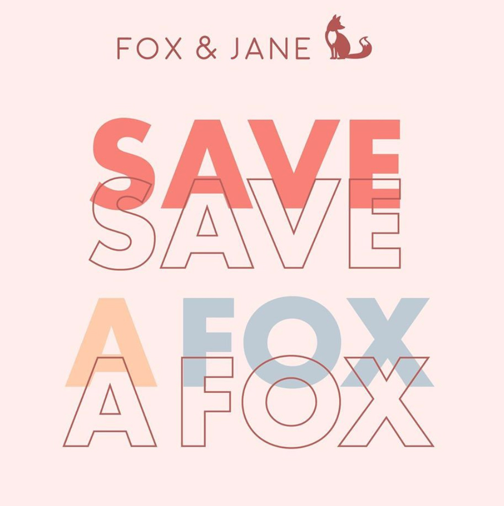 An image supporting the Save a Fox campaign