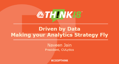 Driven about by Data Making your Analytics Strategy Fly by Naveen Jain - Wednesday: Chat Room