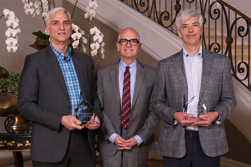 Dr. Ray Sanchez, ISCDD Chairman with CRF Bracket's David Daniel, MD and Gary Sachs, MD