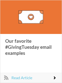 Our favorite #GivingTuesday email examples