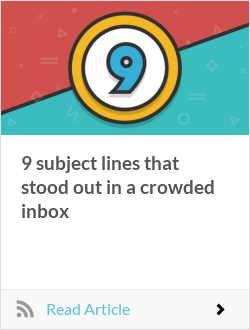 9 subject lines that stood out in a crowded inbox