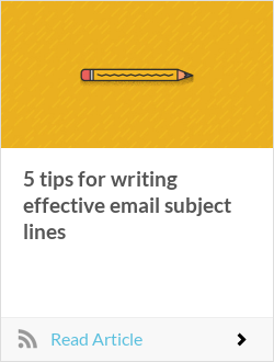 5 tips for writing effective email subject lines