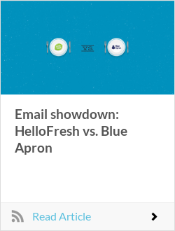 Email showdown: HelloFresh vs. Blue Apron