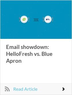 Email showdown: HelloFresh vs. Blue Apron