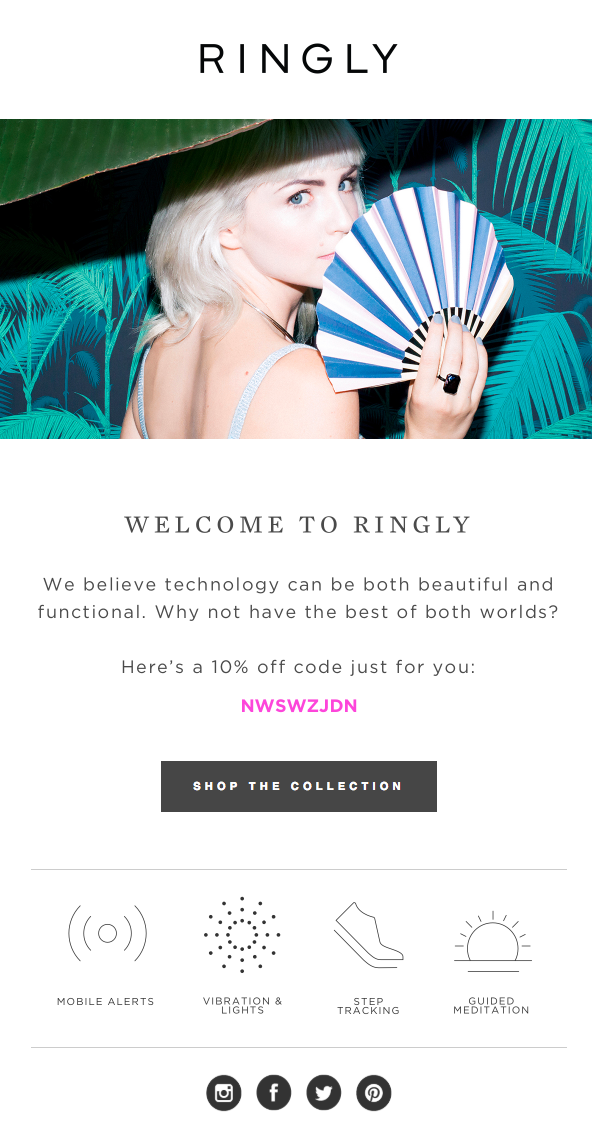Ringly – Automated Welcome Email – Promotional Offer