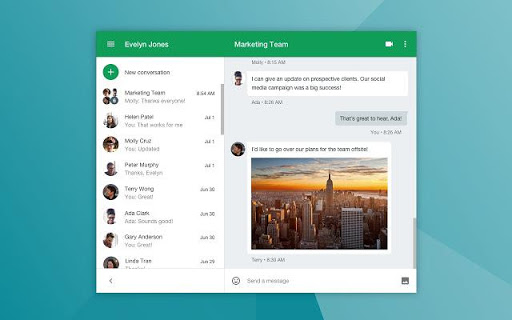 Google Hangouts collaboration tool