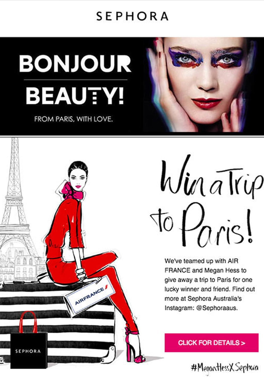 Check out how Sephora used an effective email to raise awareness of its Instagram contest: