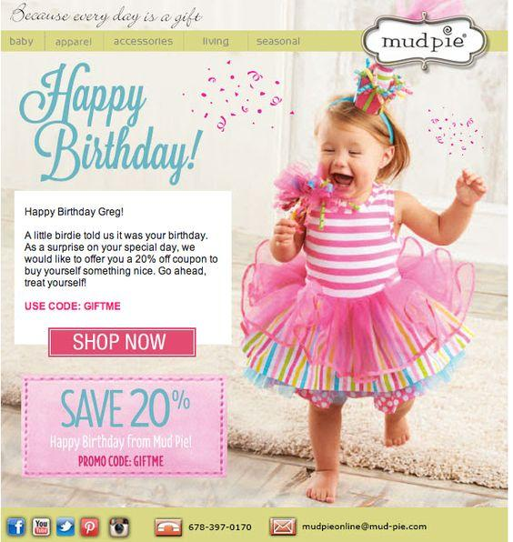 Birthday emails can improve conversion rates by up to 60%.