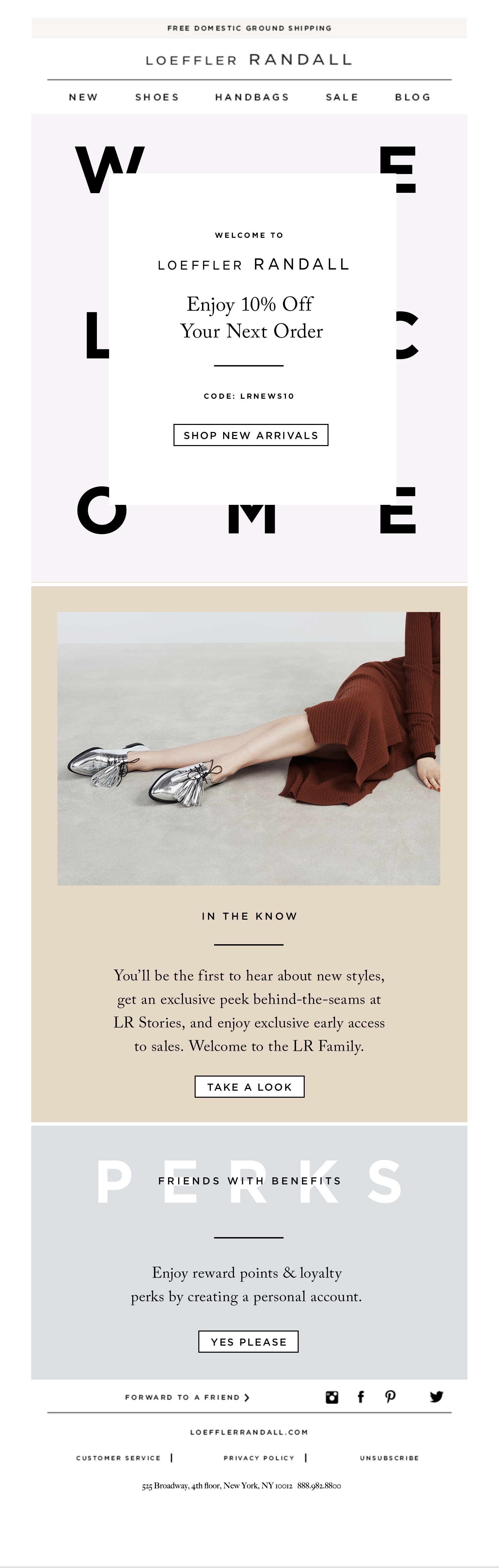 Retailer Loeffler Randall turns a promotional-based welcome email into a powerful tool that can be used to increase revenue.