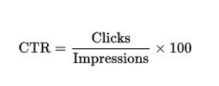 Click-through rate is the ratio of clicks your link receives to impressions the link makes.