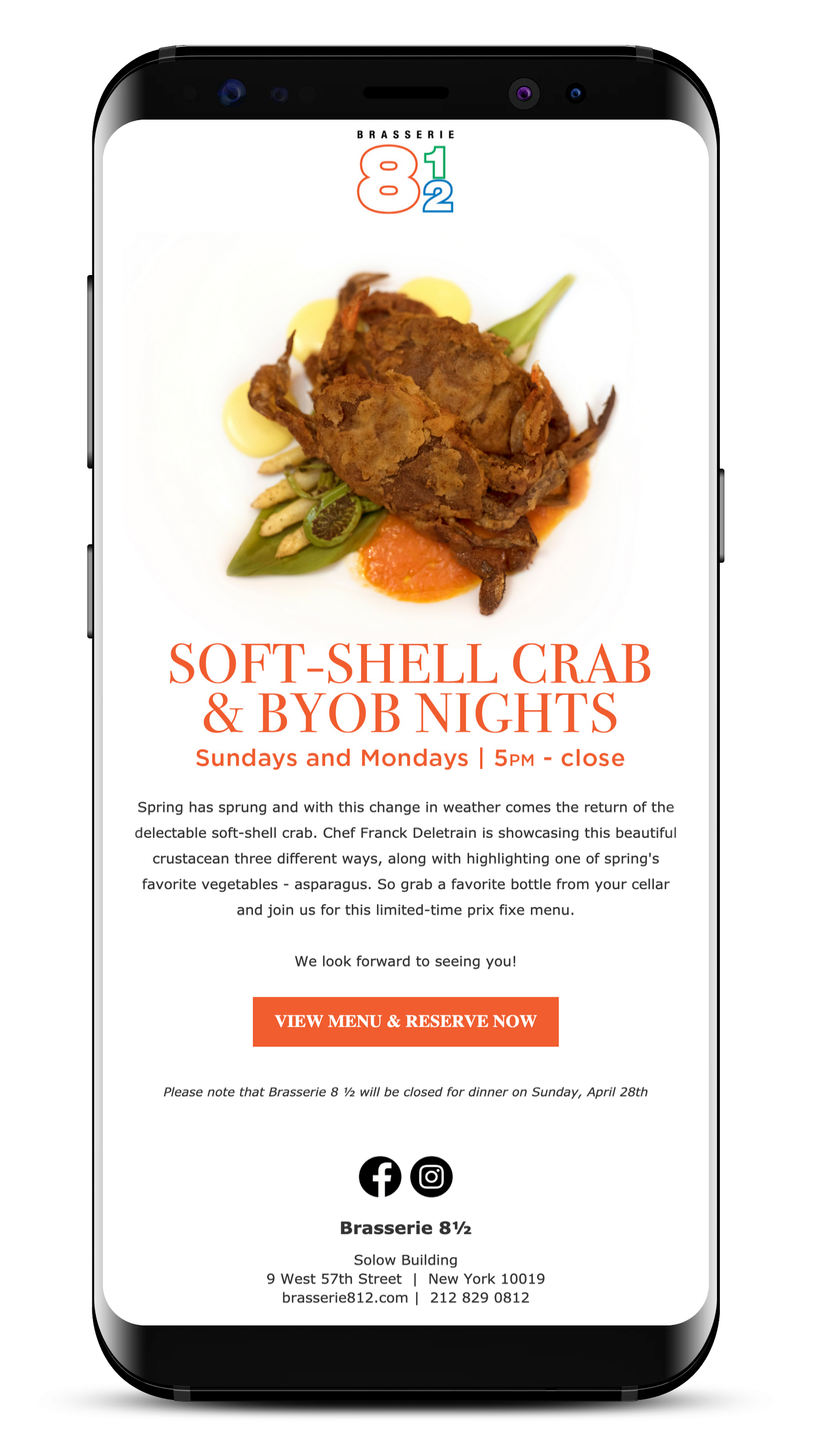Patina's soft shell crab campaign