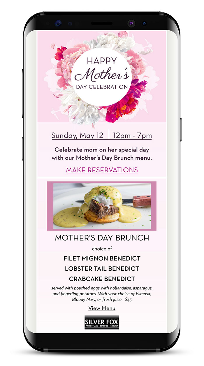 Consolidated Restaurant Operations' Mother's Day Campaign