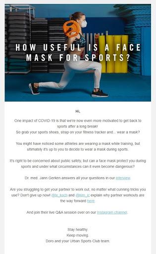 urban sports club email addresses quarantine