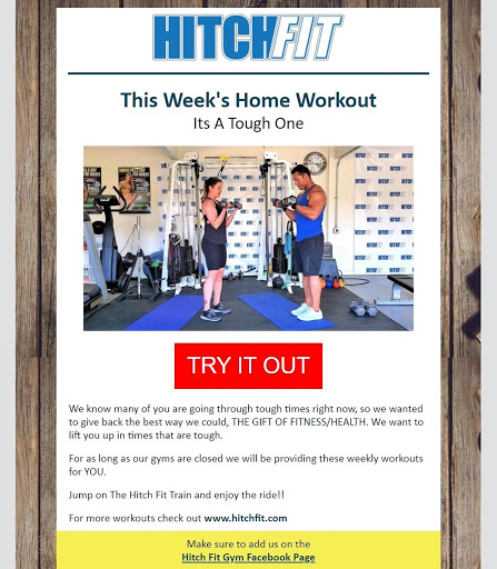 fitness email virtual classes offer example
