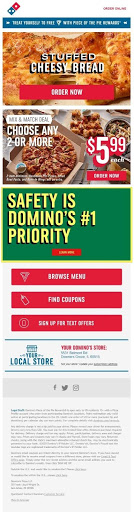 dominos scannable email example
