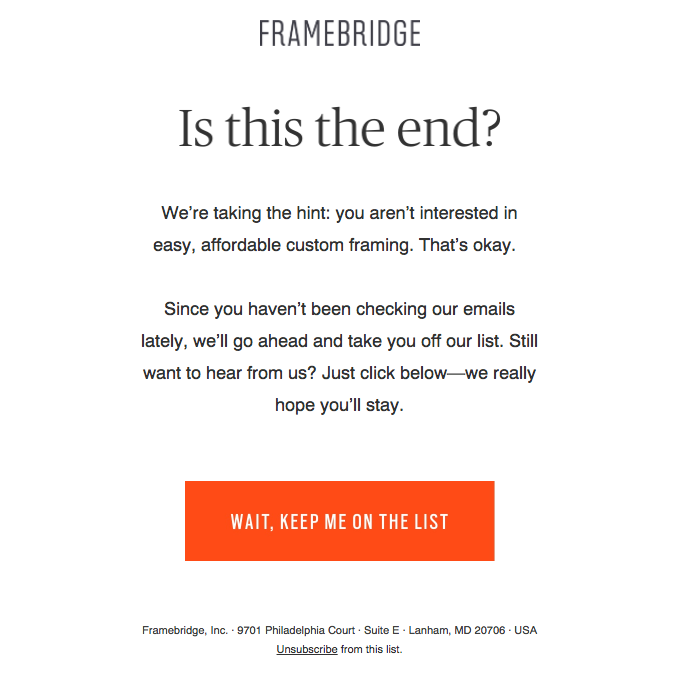 reengagement email example
