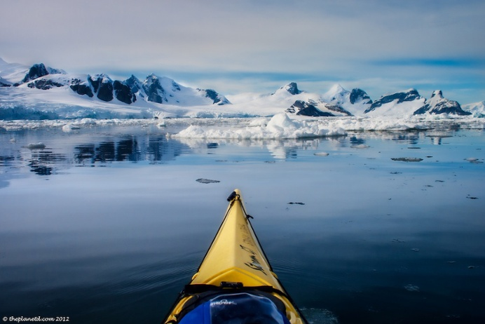 Waterproof camera gear or protective casings are important for Antarctic kayakers.