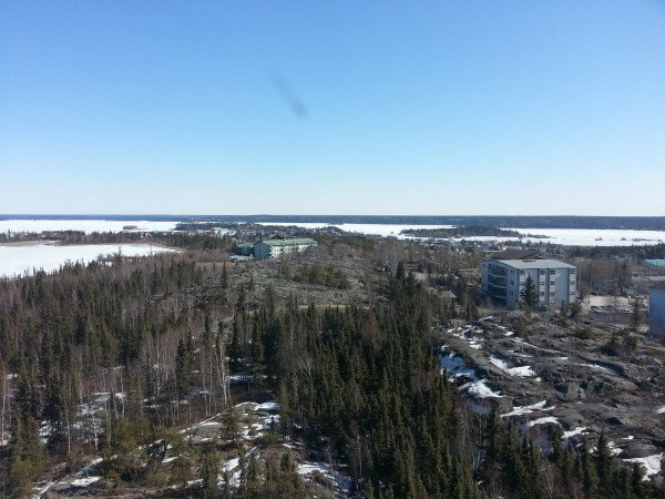 Yellowknife, where you'll catch a charter flight to Arctic Watch Wilderness Lodge