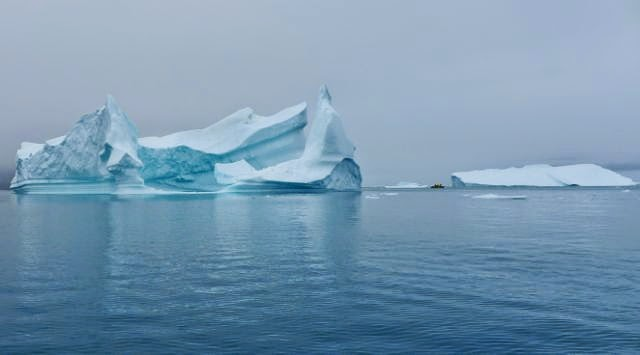 Icebergs at Disko Bay