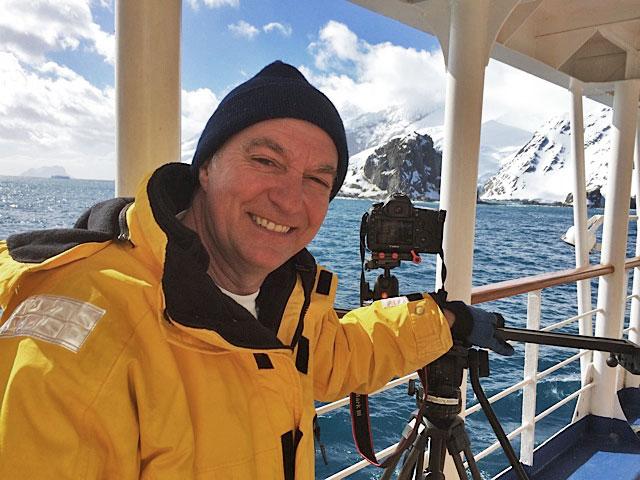 DOP Tony Wannamaker filming Elephant Island