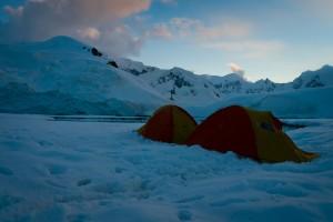 Antarctica Camping Dave and Deb