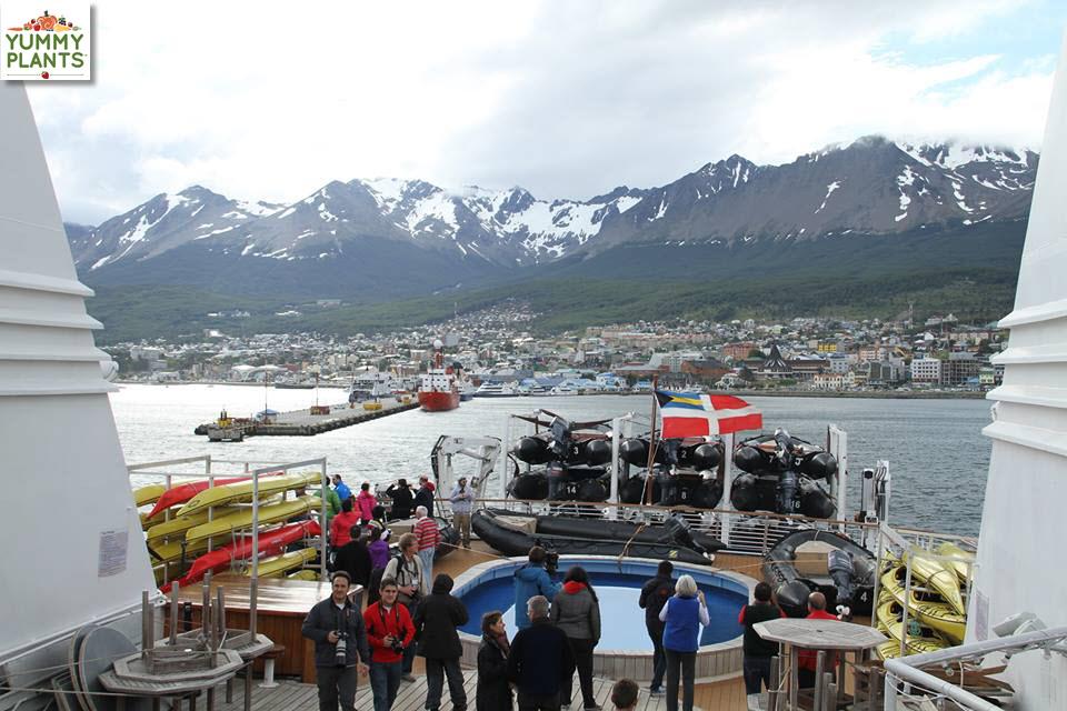 Ship leaving Ushuaia, enroute Antarctica