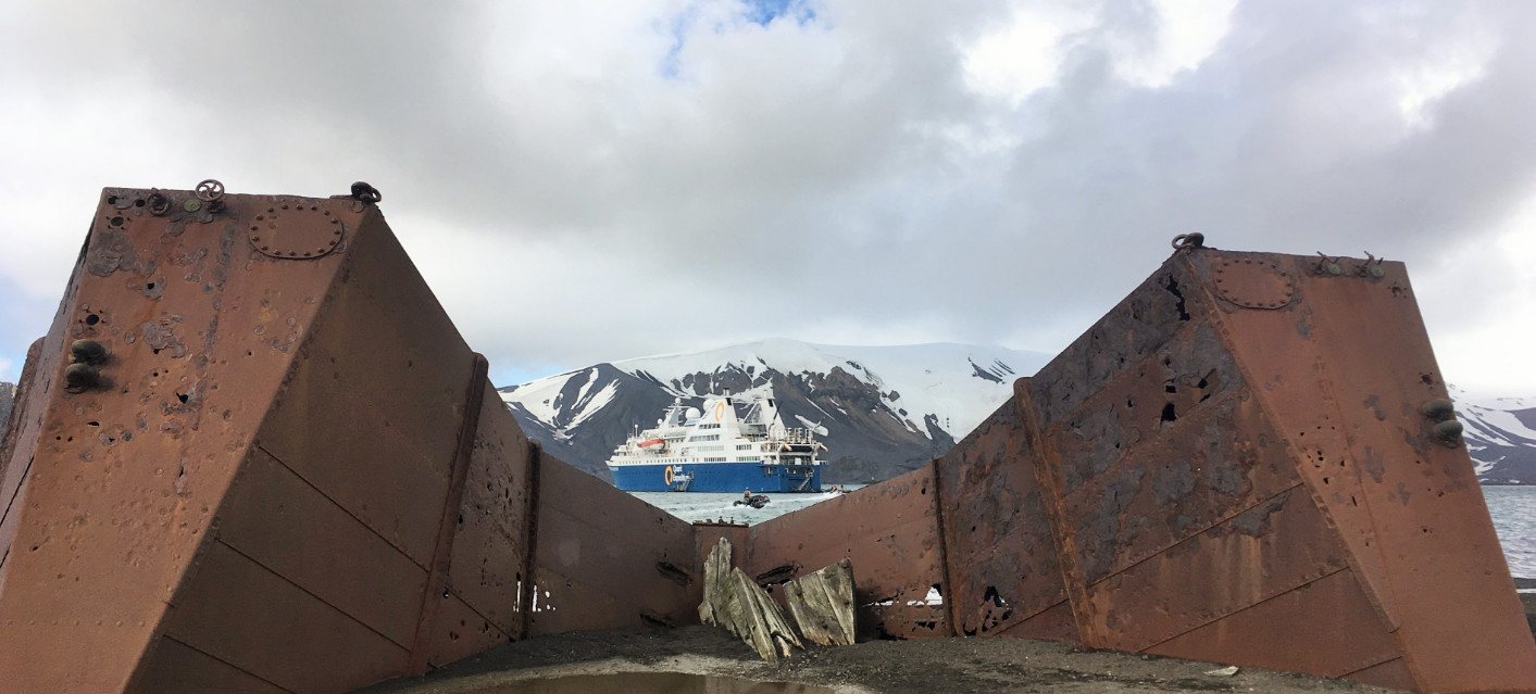 Deception Island is home to rare Antarctic plant life and incredible historic relics.