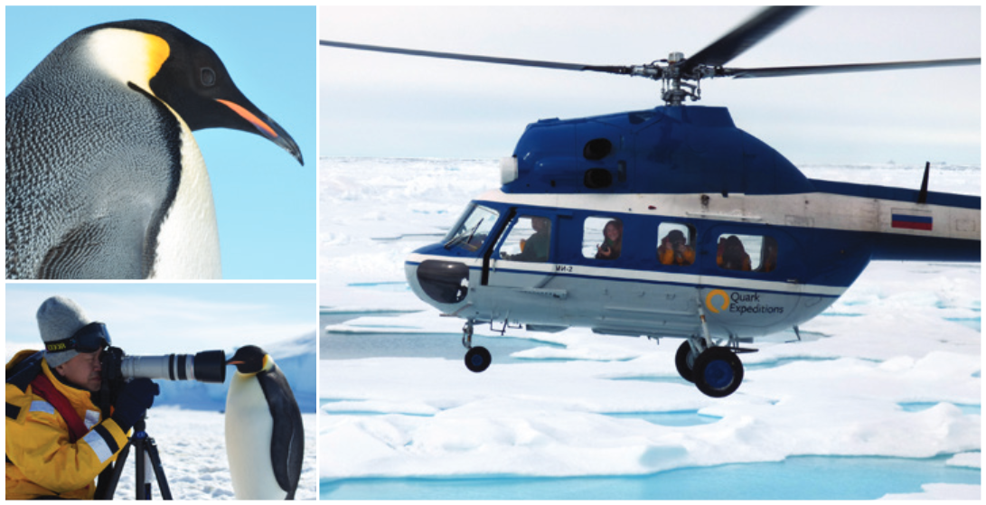 Trek to the Snow Hill Emperor Penguins by icebreaker, helicopter and on foot.