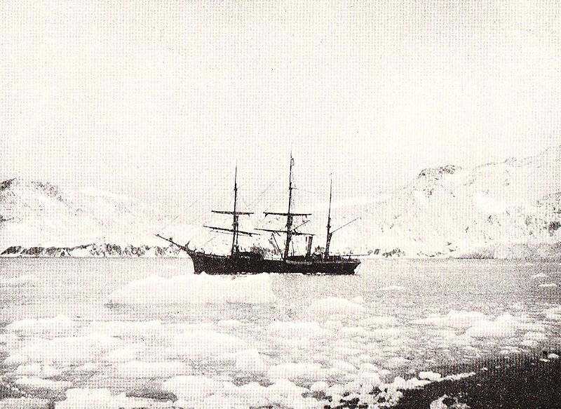 "Nordenskjöld's ""Antarctic"" trapped in pack ice."